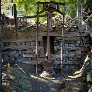 a stamp mill at the gold king mine and ghost town