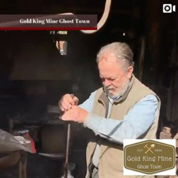 blacksmith at gold king mine and ghost town, jerome arizona