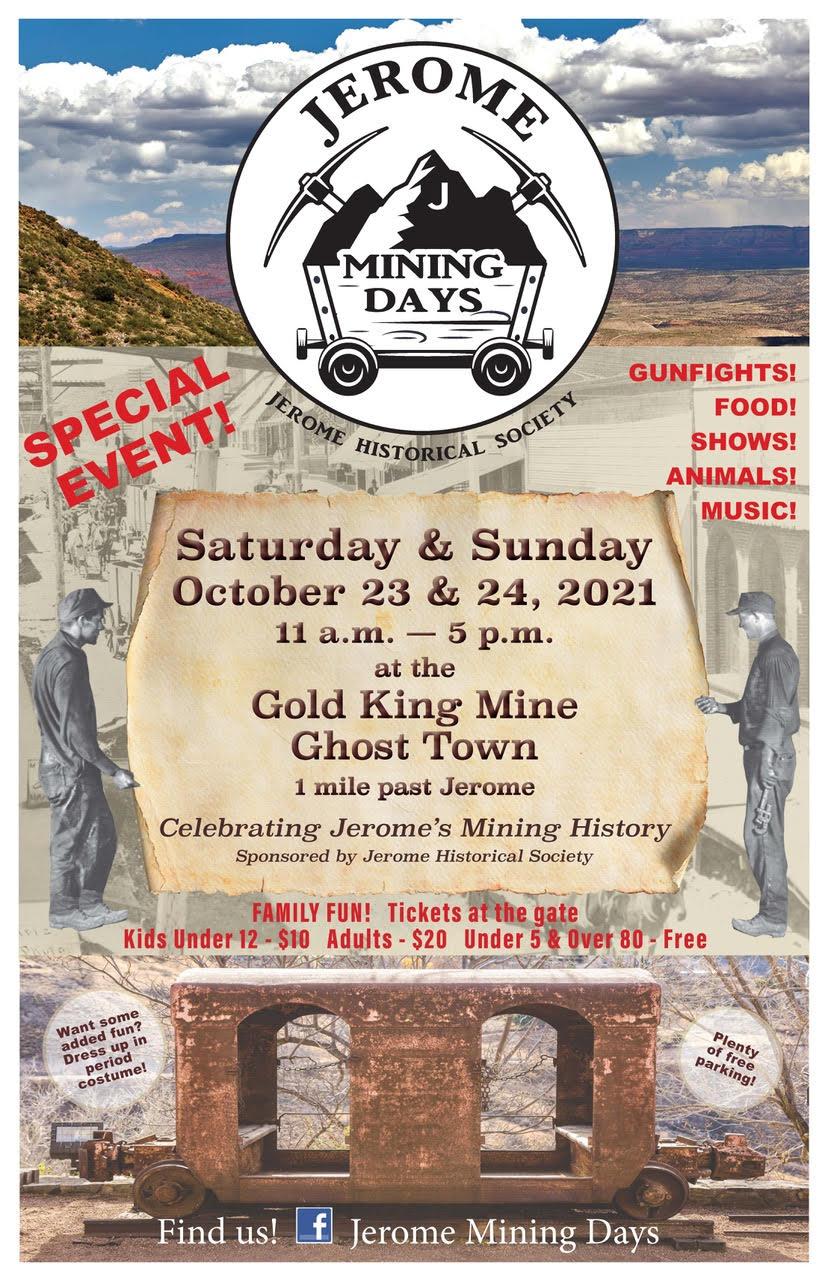 2021 jerome mining days poster